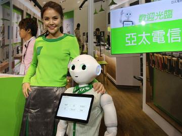 Pepper機器人海外台灣搶先賣 亞太電信通路可預購