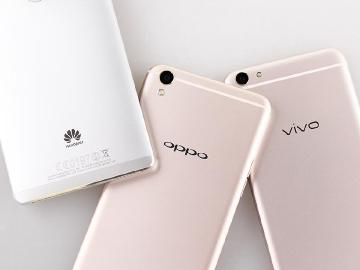 三星穩坐智慧手機龍頭 OPPO與vivo成長迅速