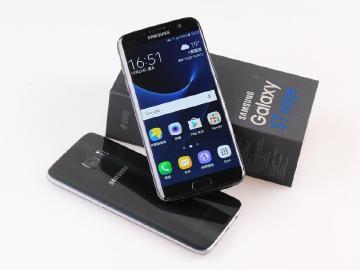 SAMSUNG S7 edge晶墨黑開箱 與瑪瑙黑顏色比較
